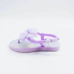 Bebe Girls Iridescent Sandals Purple Lilac 7-8 New